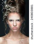 beauty portrait of young women... | Shutterstock . vector #240803881