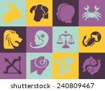 astrological signs icons pack.... | Shutterstock .eps vector #240809467