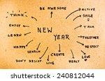 goals written on the cardboard | Shutterstock . vector #240812044