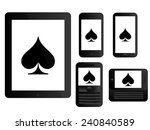 mobile devices with poker... | Shutterstock . vector #240840589