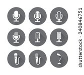 microphone icons with long... | Shutterstock .eps vector #240846751