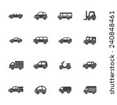 set of simple car icons symbols | Shutterstock .eps vector #240848461