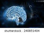 digital illustration of  brain...   Shutterstock . vector #240851404