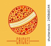 cricket sports concept with... | Shutterstock .eps vector #240868144