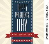 illustration of  presidents day ...   Shutterstock .eps vector #240875164