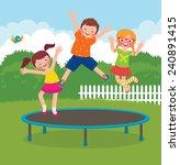 stock vector cartoon... | Shutterstock .eps vector #240891415