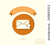 postal envelope sign. e mail... | Shutterstock .eps vector #240893311