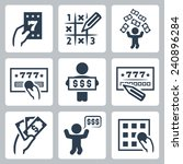 lottery related vector icon set | Shutterstock .eps vector #240896284