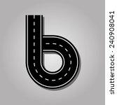 Number 6 Letter. Street Font....