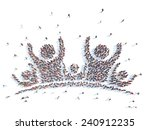 large group of people in the... | Shutterstock . vector #240912235