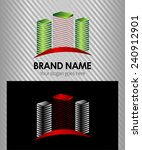 vector abstract icon  logo... | Shutterstock .eps vector #240912901