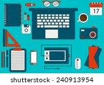 work desk | Shutterstock .eps vector #240913954