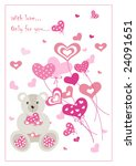 beauty card for valentine's day. | Shutterstock .eps vector #24091651