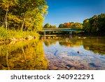 bridge over the saco river in...
