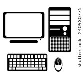 computer icon   Shutterstock .eps vector #240930775
