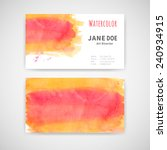 set of two business cards with... | Shutterstock .eps vector #240934915