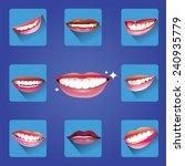 set of smiles   Shutterstock .eps vector #240935779