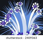 Floral Background illustration Design Abstract - stock photo