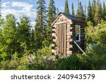 Log Outhouse In The White Rive...