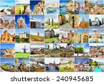 collection of photo's with... | Shutterstock . vector #240945685