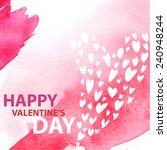st. valentine's vector postcard | Shutterstock .eps vector #240948244