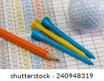 Pencil And Golf Equipments...