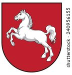 coat of arms of lower saxony | Shutterstock .eps vector #240956155