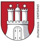 coat of arms of hamburg | Shutterstock .eps vector #240956965