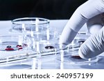 laboratory work performed on... | Shutterstock . vector #240957199