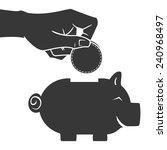 Hand Saving Money In Piggy Bank ...