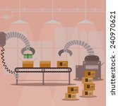 gift box production factory... | Shutterstock .eps vector #240970621