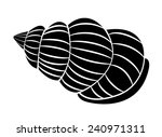 sea shell symbol  | Shutterstock . vector #240971311