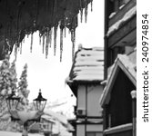 Icicles In A Snowy Village ...