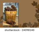 Print With A Pine Cones In A...