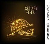 shiny golden helmet of batsman... | Shutterstock .eps vector #240983974