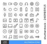 multimedia line icons | Shutterstock .eps vector #240985915