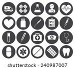 medical icons  modern flat... | Shutterstock .eps vector #240987007