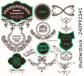 set of vector hand drawn labels ... | Shutterstock .eps vector #240992341