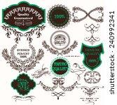 set of vector hand drawn labels ... | Shutterstock .eps vector #240992341