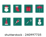 set of christmas flat icons | Shutterstock .eps vector #240997735