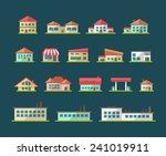 set of flat design buildings... | Shutterstock . vector #241019911