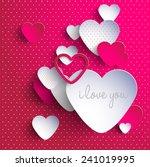 3d heart valentine's day | Shutterstock .eps vector #241019995