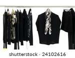 fashion clothing rack display | Shutterstock . vector #24102616