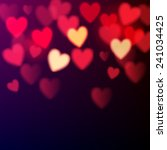 shiny hearts bokeh valentine's... | Shutterstock .eps vector #241034425