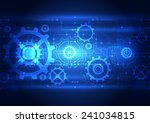 abstract technology digital... | Shutterstock .eps vector #241034815
