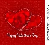 valentine grunge heart shaped... | Shutterstock .eps vector #241047277