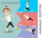 yoga for runner | Shutterstock .eps vector #241071961
