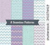 set of geometric seamless... | Shutterstock .eps vector #241076419