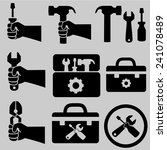 tools icons.vector | Shutterstock .eps vector #241078489