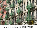 old building with fire escape ... | Shutterstock . vector #241082101